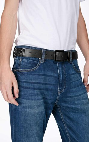 JackJones Men's Cow Leather Braided Splice Matte Pin Buckle Waist Belt JO|O21745O504