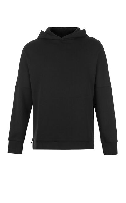 JackJones Men's Loose Fit Zip-through Long-sleeved Hoodie M|218133518, Black, large