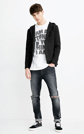 M SLAM HOODIE BLAZER(KNITTED SLIM FIT)