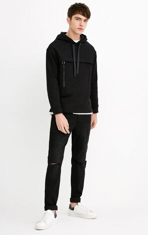 EXP-JI RON BLACK CUT JEANS