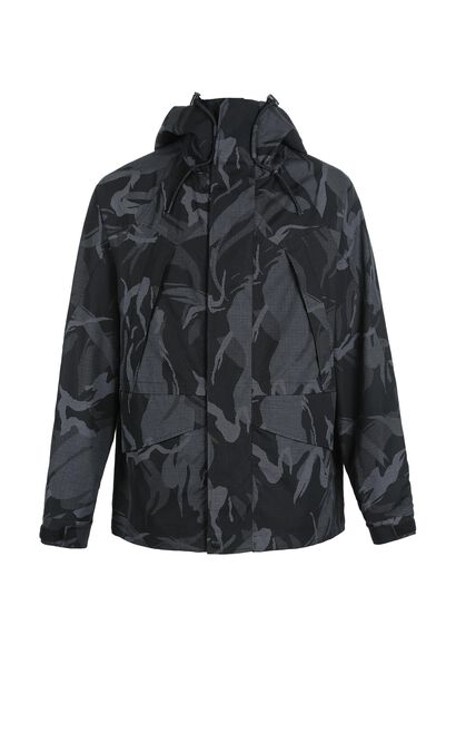 MLMR Men's Autumn 100% Cotton Drawstring Print Hooded Jacket M|218321573, Black, large