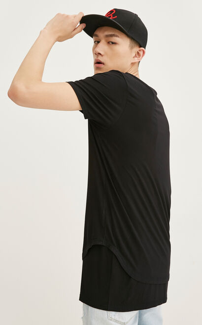 JackJones Men's Spring Two-piece Short-sleeved T-shirt|217101520, Black, large