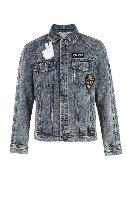 JO COBAIN BLUE DENIM JACKET, Blue, large