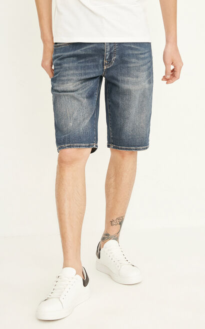 JACK JONES MEN'S RON VAN HORN DENIM SHORTS | 217343503, Blue, large