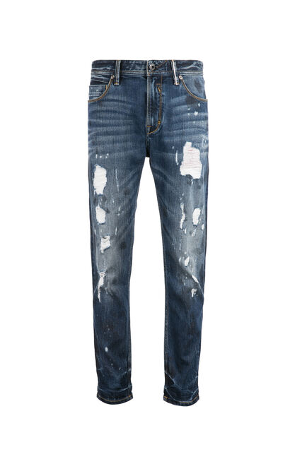 JO RAY CROPPED SLV DYLAN TORN JEANS, Blue, large