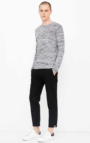 JACK JONES MEN'S AUTUMN LINEN-BLEND MIXED PATTERN LONG-SLEEVED KNITTED TOPS | 218324527