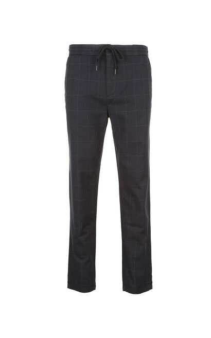 JackJones Men's Spring Slim Fit Casual Plaid Pants|217114518, Blue, large