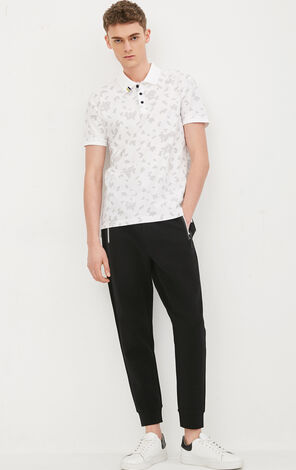 JackJones Men's Spring 100% Cotton Geometrical Print Short-sleeved T-shirt|217106512