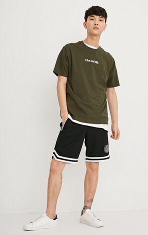 JACK JONES MEN'S LACE-UP DRAWSTRING WAISTBAND LOOSE FIT CASUAL TRUNKS | 218215529