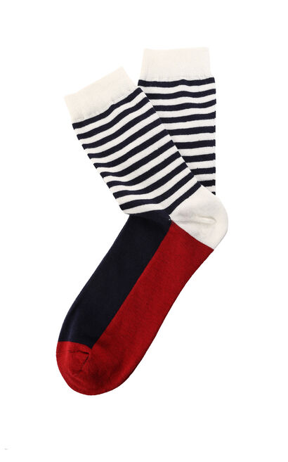 E 3-PACK FALMOUTH LONG SOCKS, Dark blue, large