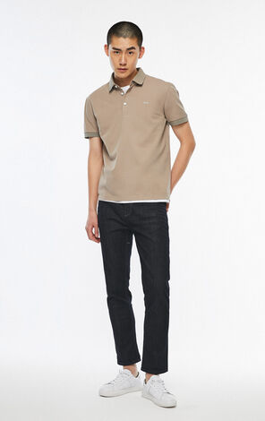 JackJones Men's Spring 100% Cotton Multiple Colors Turn-down Collar Short-sleeved Polo Shirt | 219306510