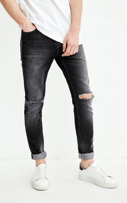 JC GREG GO BLACK JEANS, Black, large