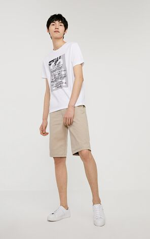 JackJones Men's Autumn Cotton Contrasting Rolled Shorts JJC| 219315502