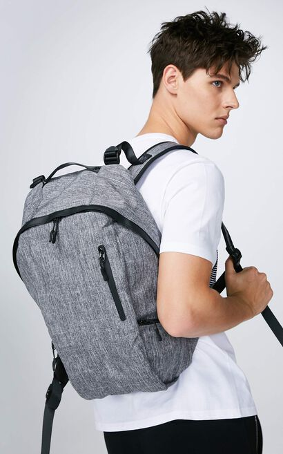 JackJones Men's Multi-purpose Backpack M|217385505, Light Grey, large