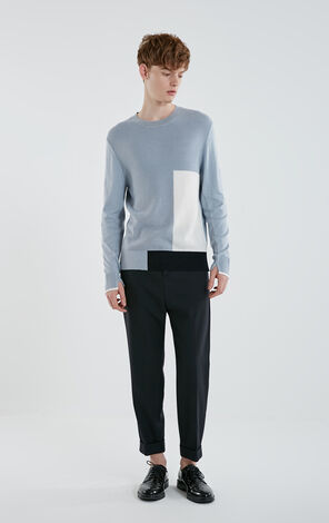 JACK JONES MEN'S SPLICED LONG-SLEEVED KNIT | 219125508