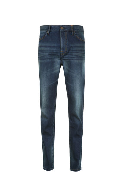 JackJones Men's Spring Lycra Stretch Washed Finish Jeans C|217132528, Blue, large