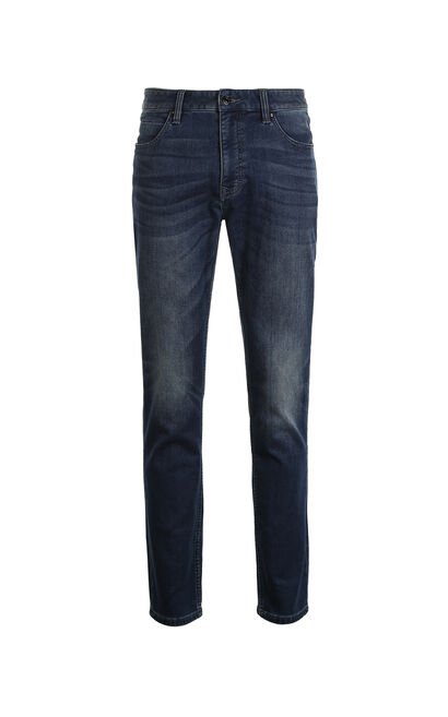 JackJones Men's Winter Slim Fit Brushed Jeans J|217432525, Blue, large