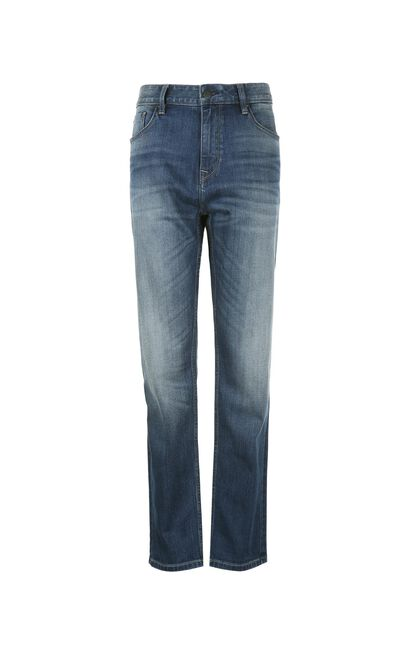 JackJones Men's Spring Cotton Low Crotch Tapered Stretch Jeans C|217132549, Blue, large