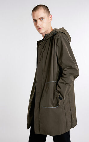 JackJones Men's Autumn Medium Style Hooded Wind Coat C|218321514