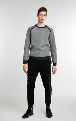 JACK JONES MEN'S WINTER ROUND NECKLINE PURE COLOR 100% WOOL KNITTED SWEATER | 218424512