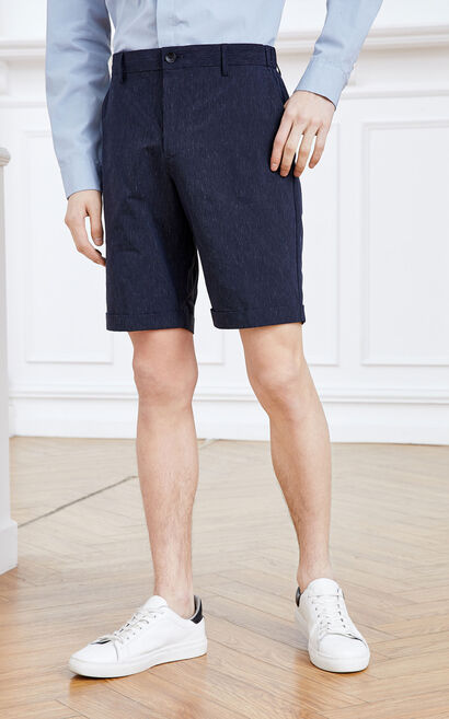 Jack Jones Men's Spring Linen Stripe Roll-up Knee-high Shorts E|219215527, Blue, large