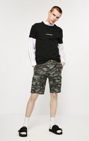 JackJones Men's Spring Camouflage Straight Fit Shorts|219115518