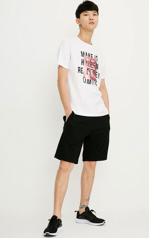 JACK JONES MEN'S 100% COTTON STRAIGHT ROUND COLLAR SHORT-SLEEVED T-SHIRT WITH LASER LETTERS | 218201544