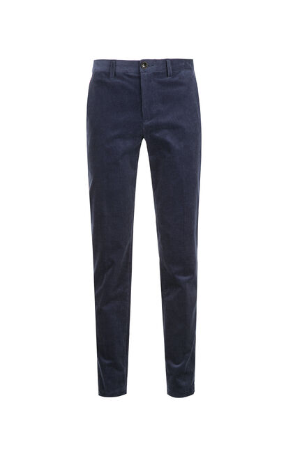 JackJones Men's Autumn Slim Fit Corduroy Cotton Casual Pants E|217314536, Blue, large