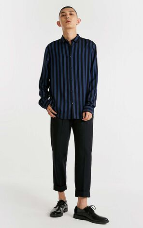 JACK JONES MEN'S AUTUMN STRIPED LONG-SLEEVED SHIRT | 218305567