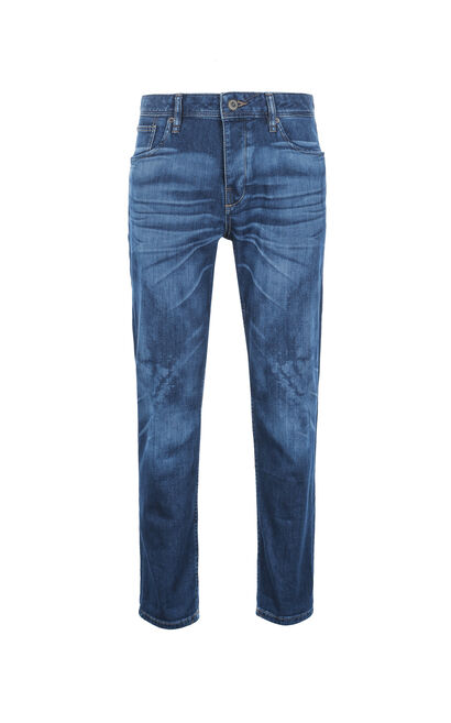 JackJones Men's Summer Slim Fit Lycra Washed Finish Jeans O|217232501, Blue, large