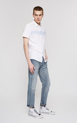 JI TIM LINEN CROPPED SHARK BAY LT JEANS