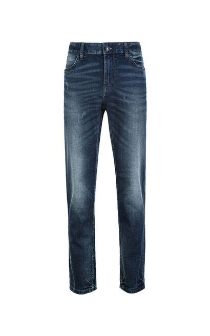 Jack Jones Men's Imported Stretch Ripped Faded Jeans E|217332519, Blue, large