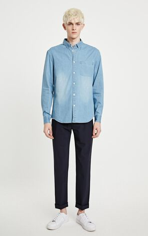 JackJones Men's 100% Cotton Denim Shirt W|219105559
