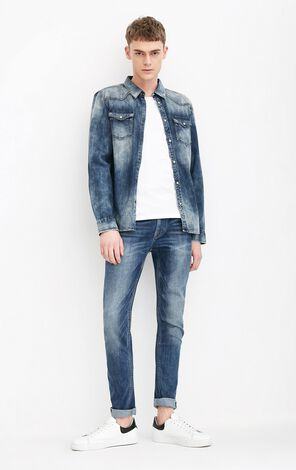 JO DOMINIC DENIM SHIRT L/S-2RO(SLIM FIT)