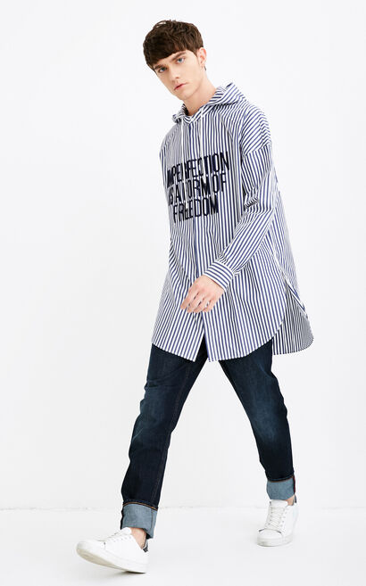 C ACTY SHIRT L/S(SPECIAL FIT), Dark blue, large
