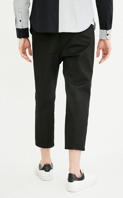 M NAUGHTY CHINO PANTS(BAGGIE  FIT), Black, large