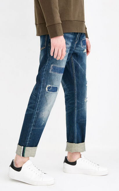 JO ERIC ORG CROSSING MANIA JEANS, Blue, large